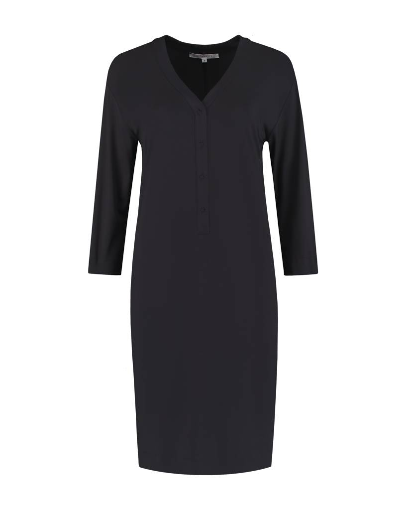 SYLVER Silky Jersey Dress - Charcoal