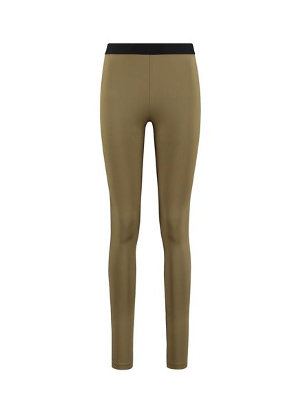 SYLVER Silky Jersey Legging - Olijfbruin