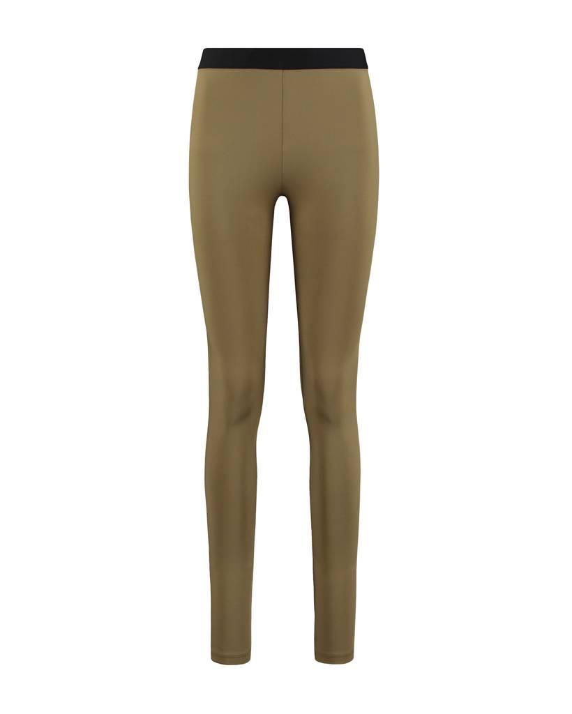 SYLVER Silky Jersey Legging - Olijfgroen