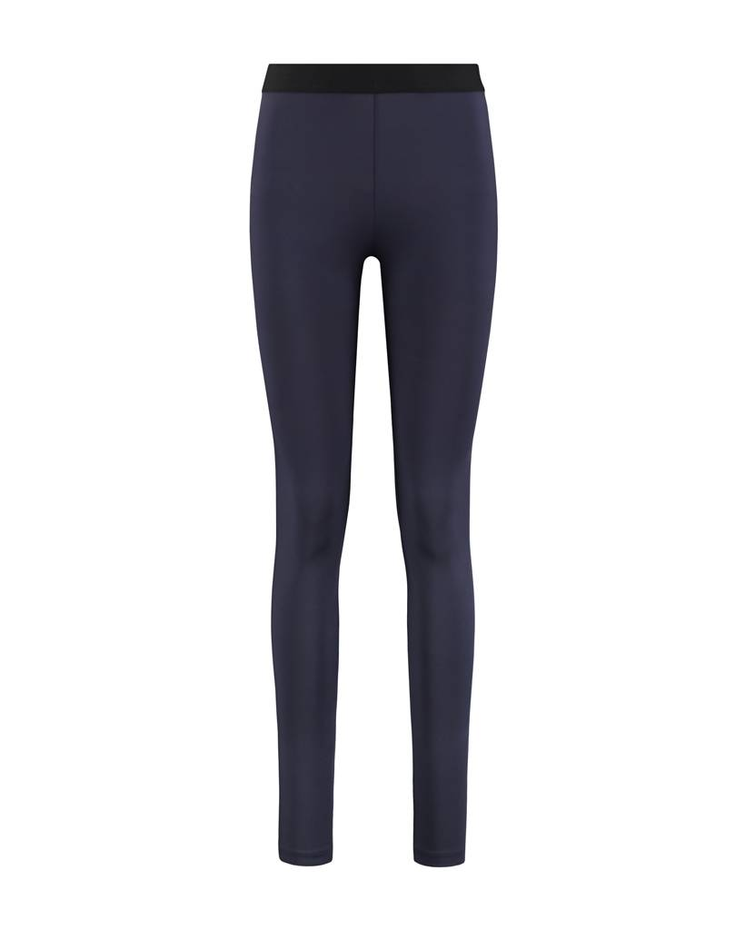 SYLVER Silky Jersey Legging - Donkerblauw