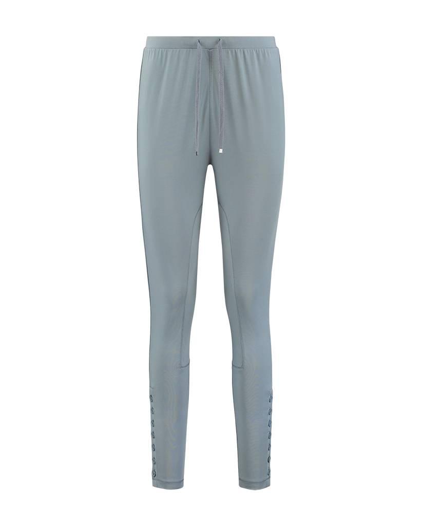 SYLVER Silky Jersey Trousers fancy - Dark Smoke