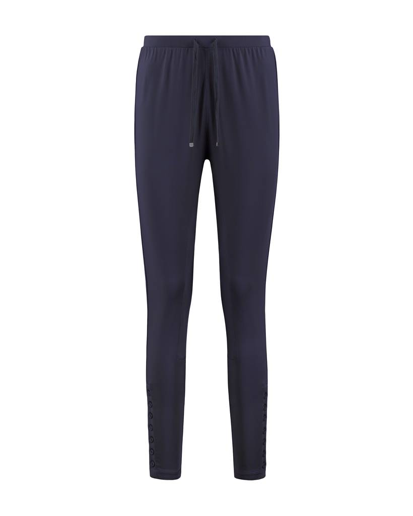SYLVER Silky Jersey Trousers fancy - Donkerblauw
