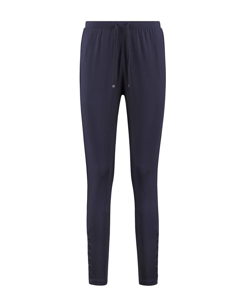SYLVER Silky Jersey Trousers fancy - Indigo