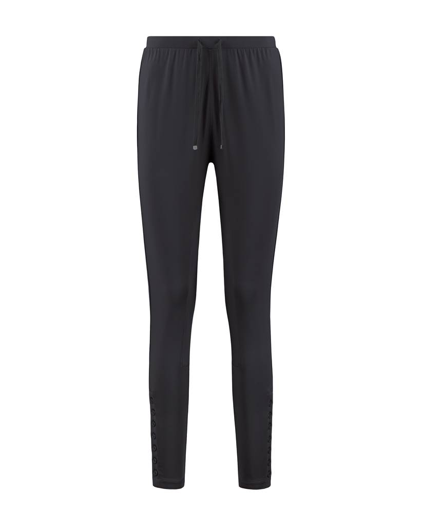 SYLVER Silky Jersey Trousers fancy - Donkergrijs