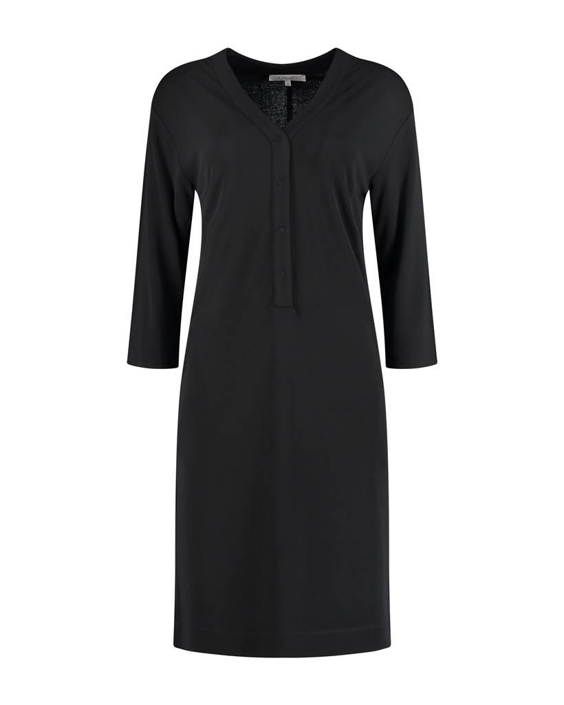 SYLVER Heavy Crêpe Dress - Zwart