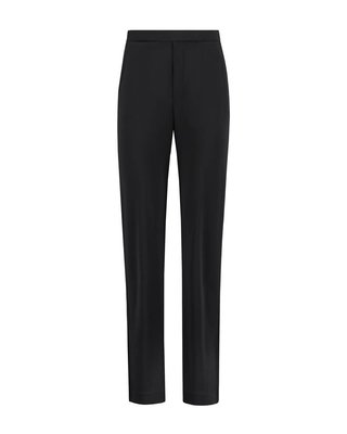 SYLVER Heavy Crêpe Trousers - Black