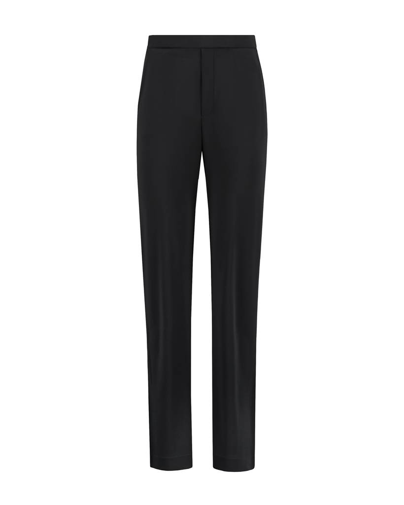 SYLVER Heavy Crêpe Trousers - Black