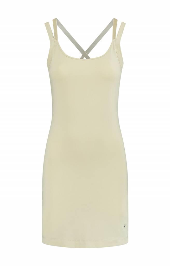 SYLVER Cotton Elasthane Dress - Antique White