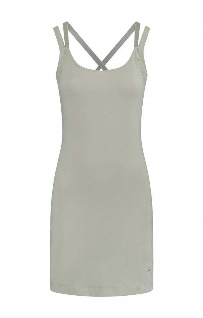 SYLVER Cotton Elasthane Dress - Taupe