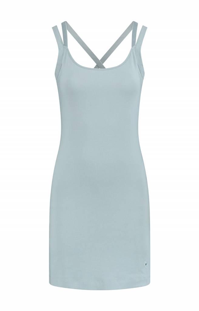 SYLVER Cotton Elasthane Dress - Light Smoke