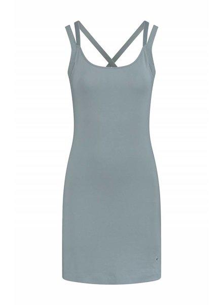 SYLVER Cotton Elasthane Dress - Grijsblauw