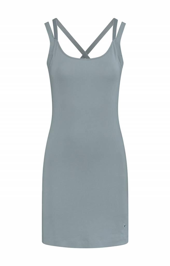 SYLVER Cotton Elasthane Dress - Dark Smoke