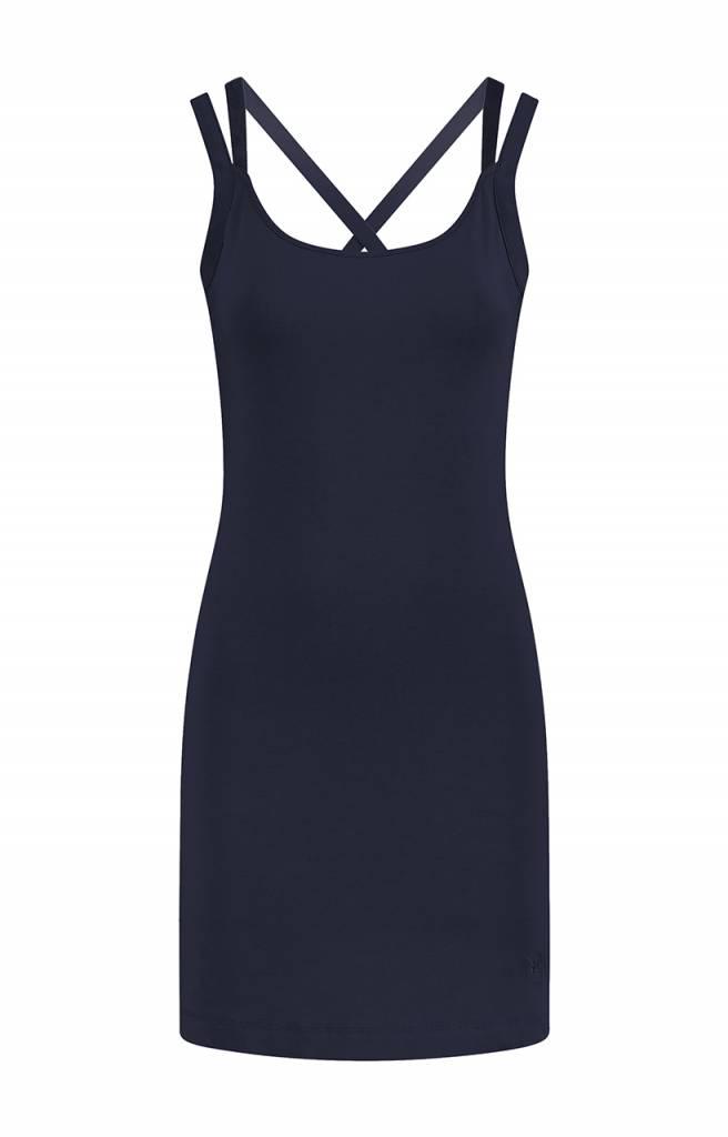 SYLVER Cotton Elasthane Dress - Donkerblauw