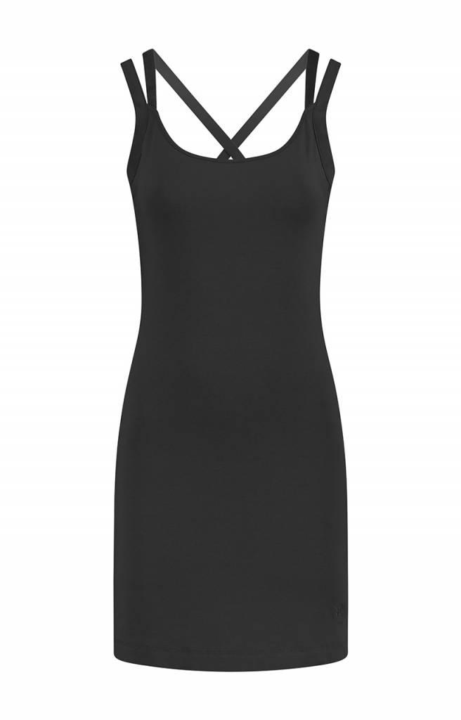SYLVER Cotton Elasthane Dress - Charcoal