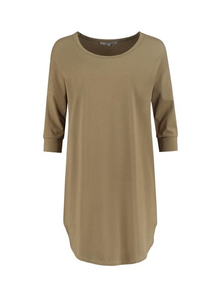 SYLVER Cotton Elasthane Shirt - Olijfgroen