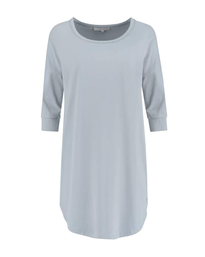 SYLVER Cotton Elasthane Shirt - Licht Grijsblauw