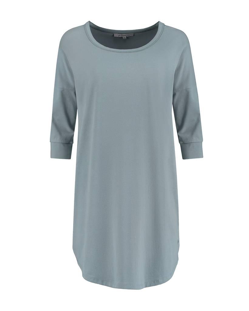 SYLVER Cotton Elasthane Shirt - Grijsblauw