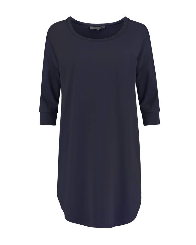 SYLVER Cotton Elasthane Shirt - Donkerblauw