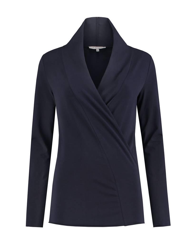 SYLVER Cotton Elasthane Shirt wrap - Indigo