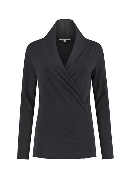 SYLVER Cotton Elasthane Shirt wrap - Donkergrijs