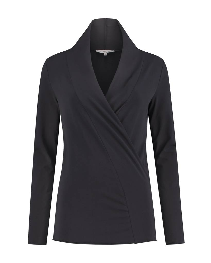 SYLVER Cotton Elasthane Shirt wrap - Charcoal