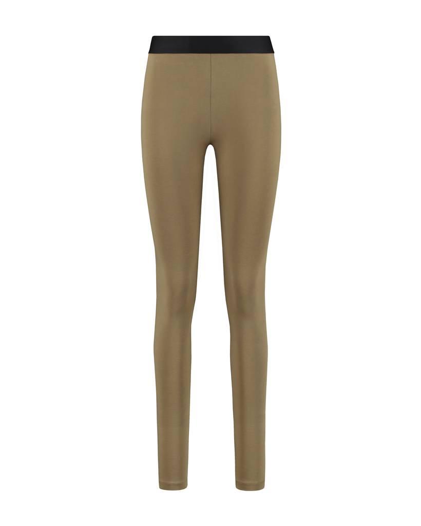 SYLVER Cotton Elasthane Legging - Bright Olive