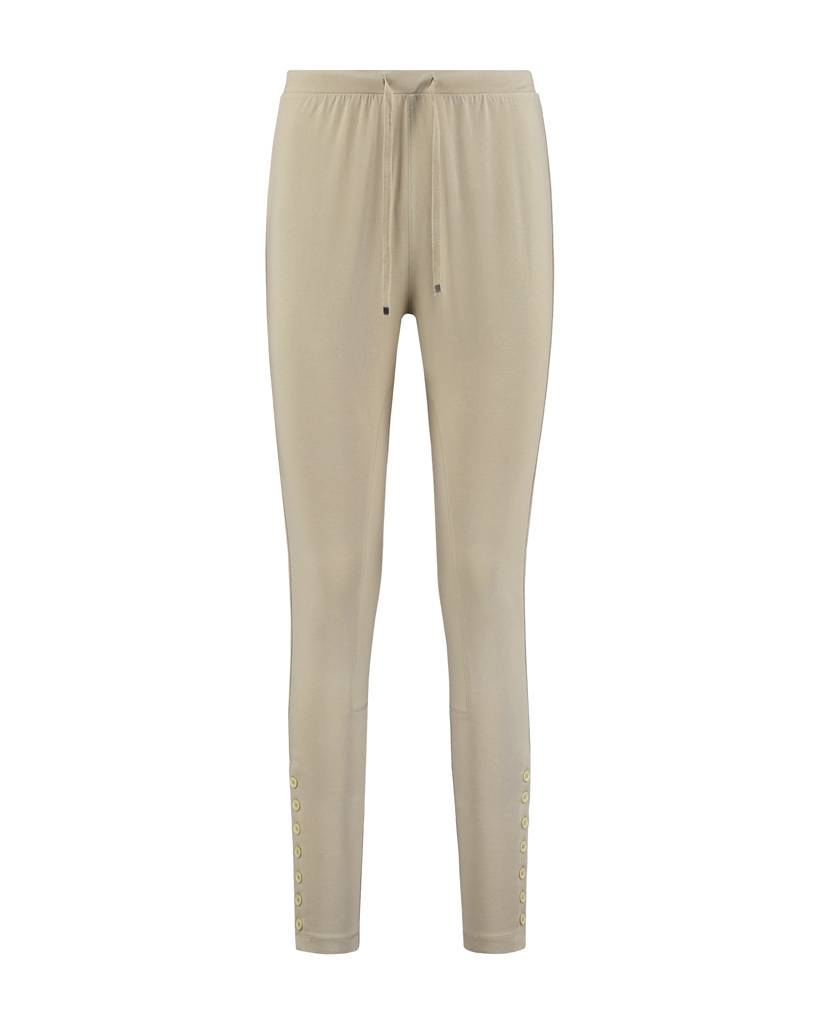 SYLVER Cotton Elasthane Trousers Fancy - Taupe