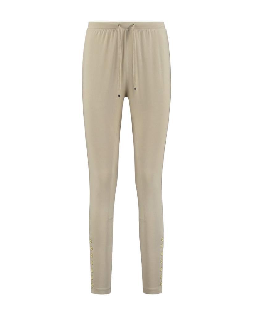 SYLVER Cotton Elasthane Trousers Fancy - Zand