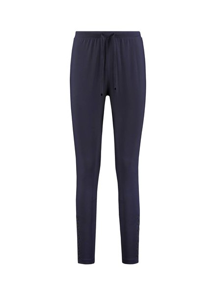 SYLVER Cotton Elasthane Trousers Fancy - Donkerblauw
