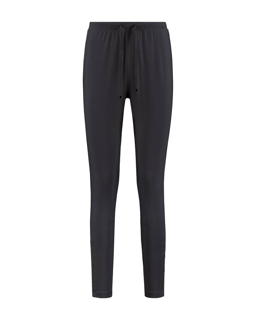 SYLVER Cotton Elasthane Trousers Fancy - Charcoal