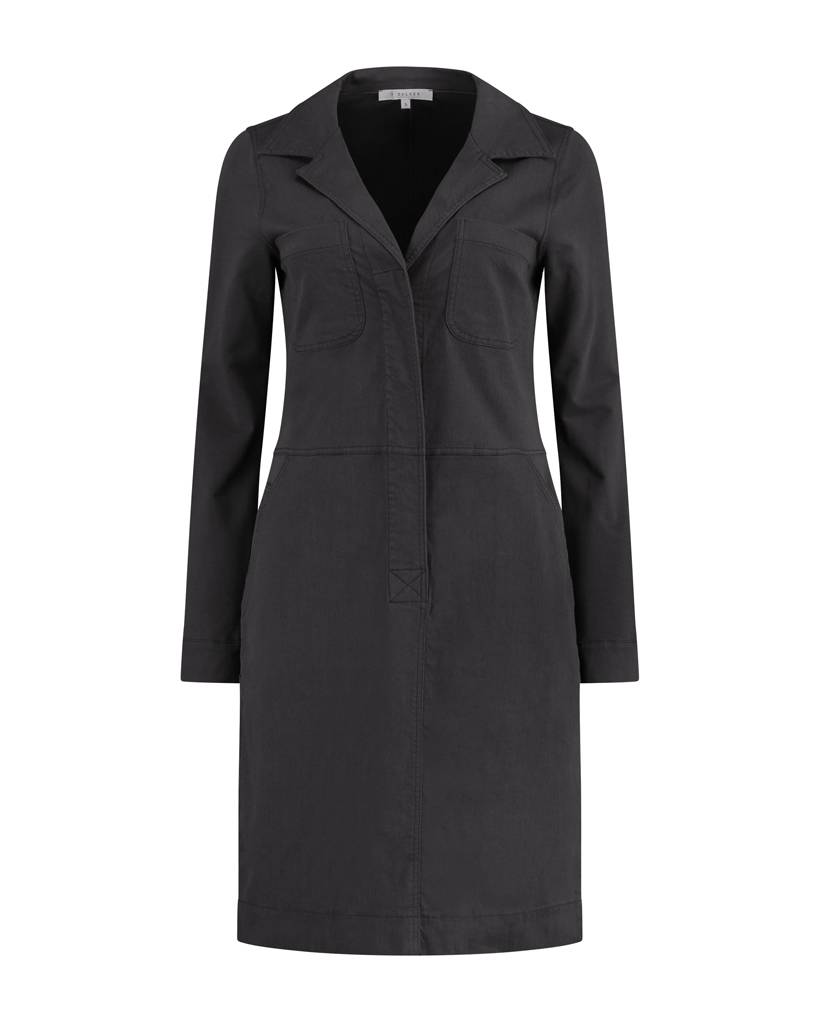 SYLVER Sweat Dress - Charcoal
