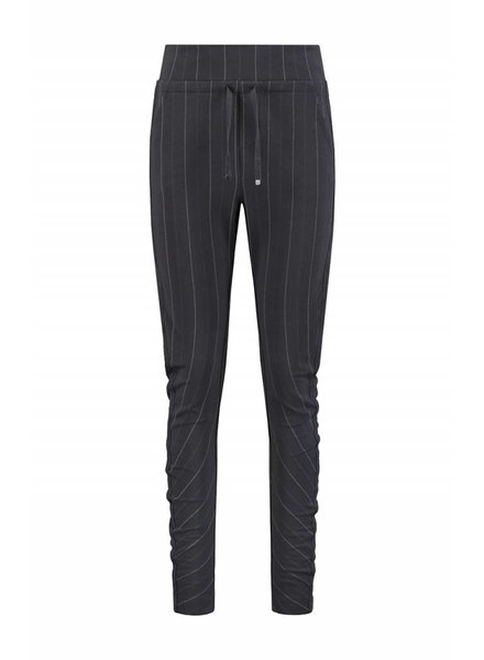 SYLVER Stripe Sweat Trousers back pockets - Charcoal