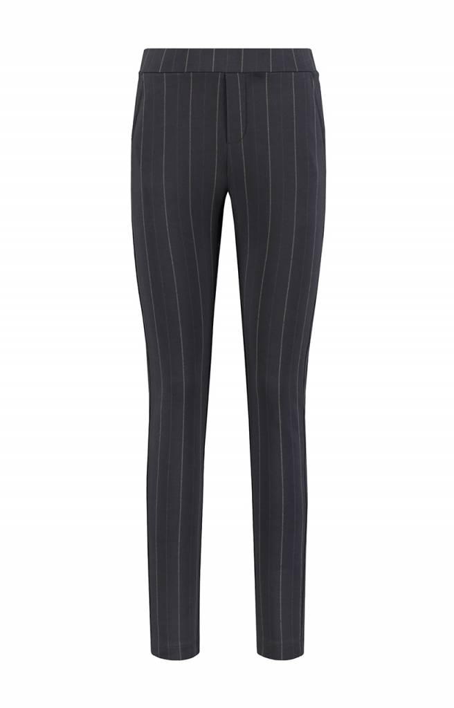 SYLVER Stripe Sweat Trousers wide legs - Donkergrijs