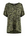 SYLVER Paisley Shirt - Bright Olive