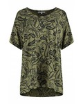 SYLVER Paisley Shirt - Olijfgroen