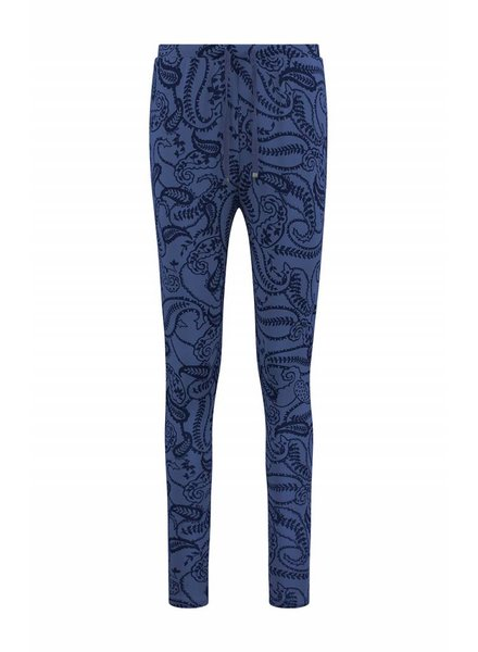 SYLVER Paisley Trousers basic - Paarsblauw