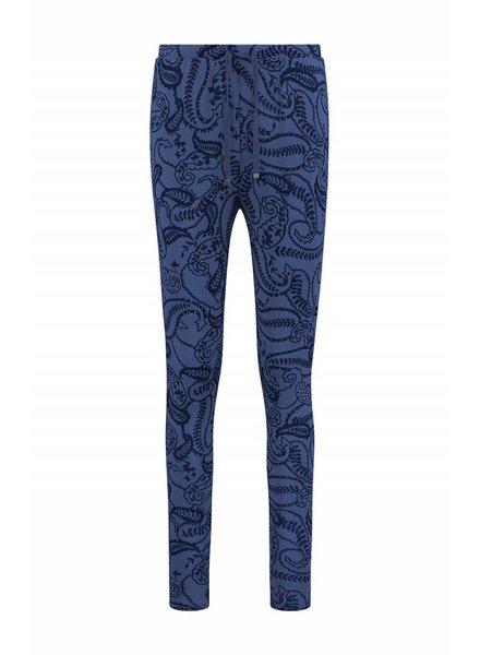 SYLVER Paisley Trousers basic - Purple Blue