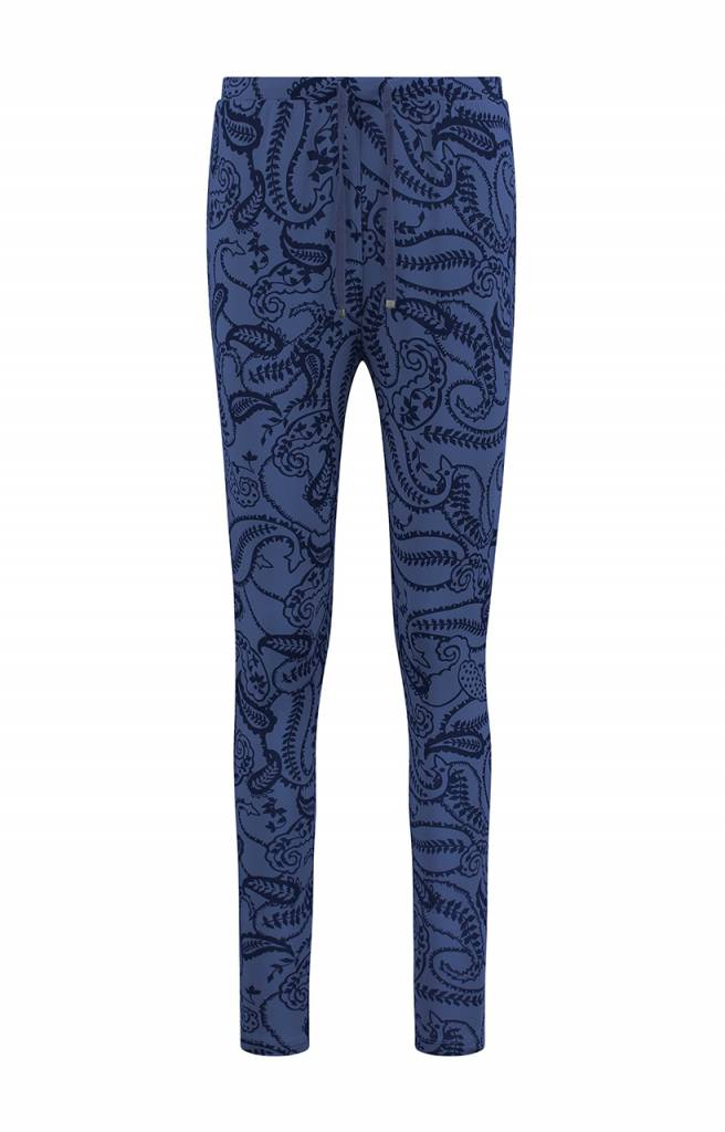 SYLVER Paisley Trousers basic - Purple Blue
