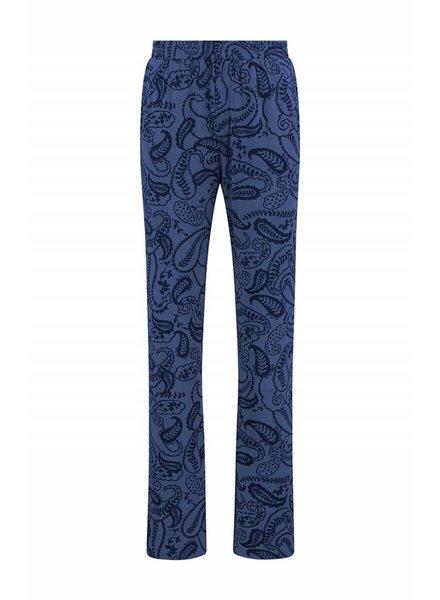 SYLVER Paisley Trousers wide legs - Purple Blue