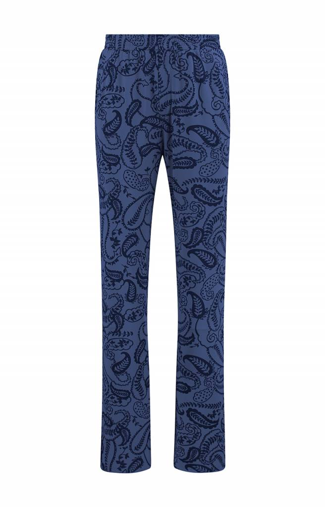 SYLVER Paisley Trousers wide legs - Paarsblauw