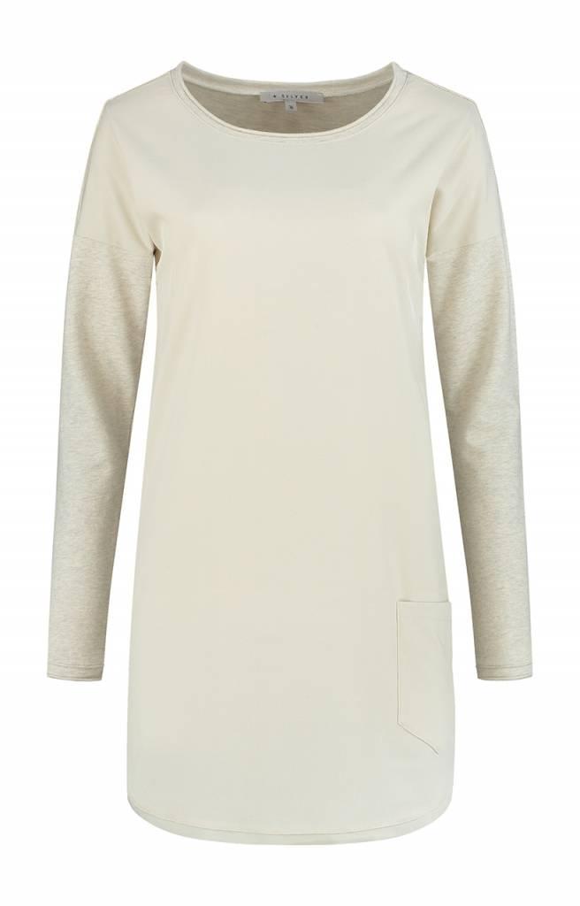 SYLVER Melange Sweat Shirt - Wool White
