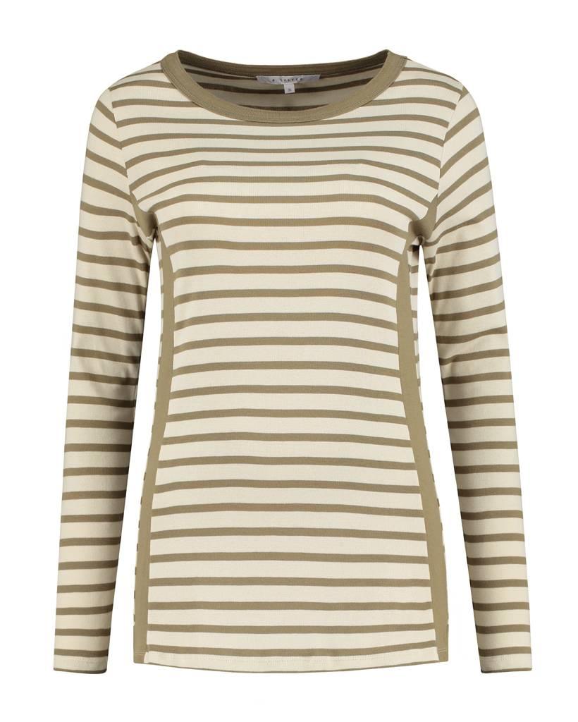 SYLVER Stripes Shirt - Olijfgroen