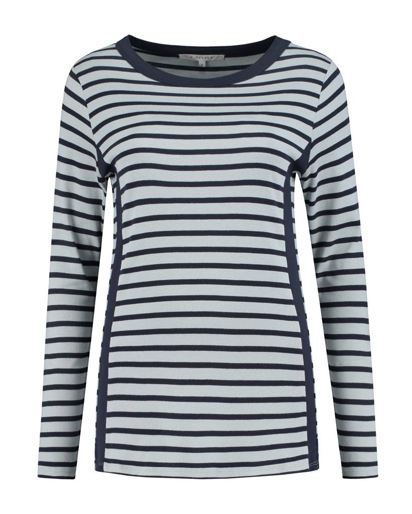SYLVER Stripes Shirt - Donkerblauw