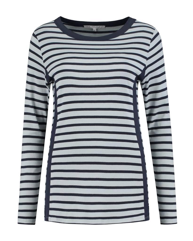 SYLVER Stripes Shirt - Indigo