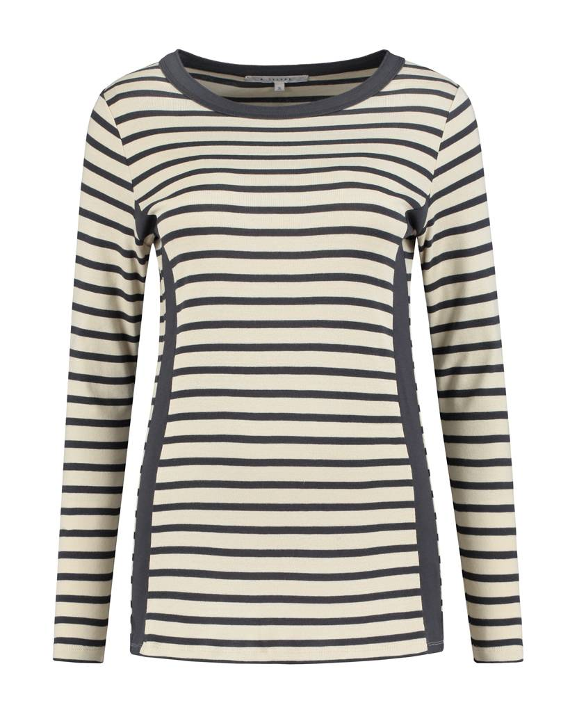 SYLVER Stripes Shirt - Donkergrijs