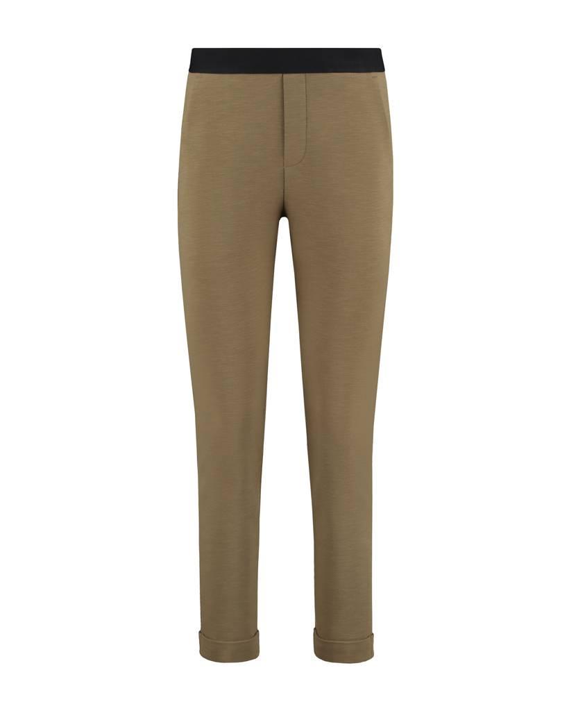 SYLVER Slub Sweat Trousers small - Bright Olive
