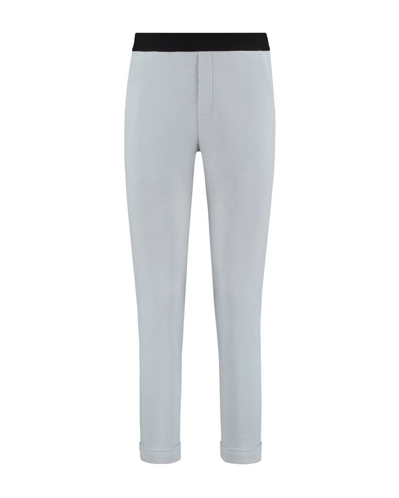 SYLVER Slub Sweat Trousers small - Licht Grijsblauw