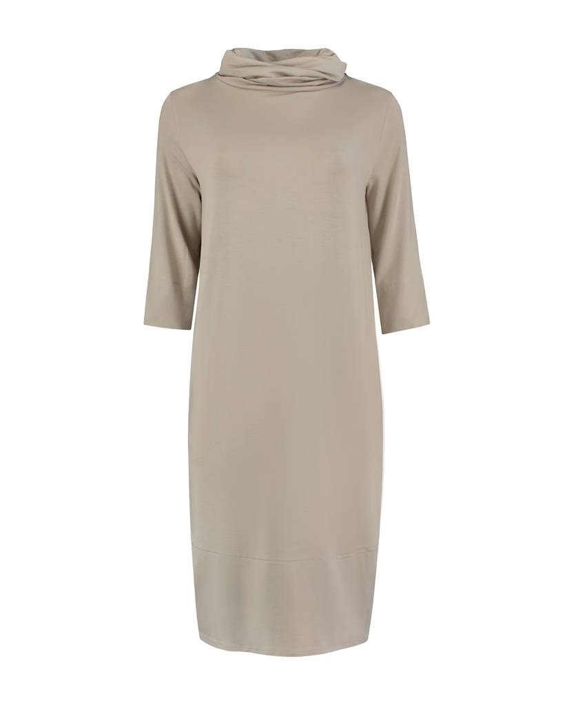 SYLVER Lyocell Dress - Taupe
