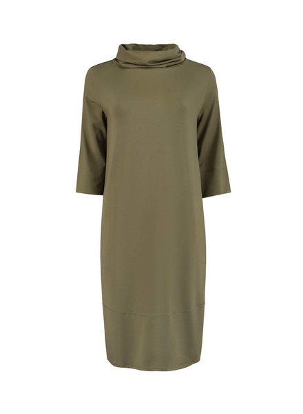 SYLVER Lyocell Dress - Bright Olive