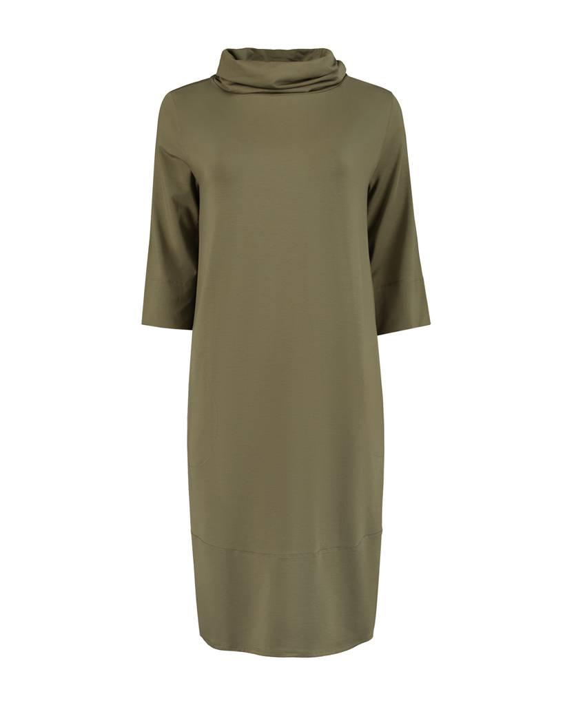 SYLVER Lyocell Dress - Olijfgroen